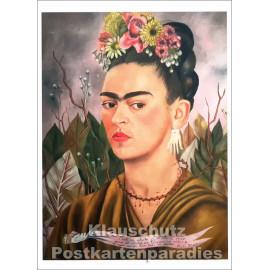 Selbstportrait | Frida Kahlo - Taurus Kunstkarte