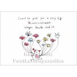 Very big Blumenstrauss   Postkarte von karindrawings / Discordia