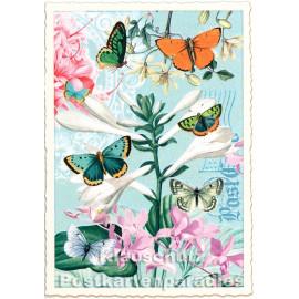 Bunte Schmetterlinge | ActeTre Glitterkarte