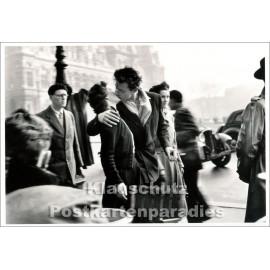 Taurus Kunst Postkarte | Robert Doisneau | Der Kuss vor dem Hotel de Ville in Paris