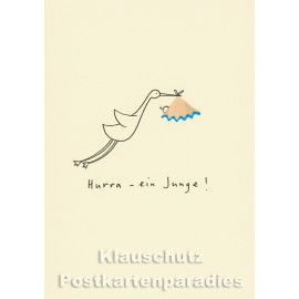 Buntstift Spitzer Doppelkarte von Discordia | Hurra - ein Junge