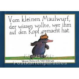 Kinderbuch 'Vom kleinen Maulwurf ...' von Wolf Erlbruch aus dem Peter-Hammer-Verlag - Vorderansicht