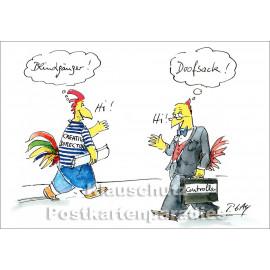Discordia Postkarte von Peter Gaymann | Blindgänger - Doofsack