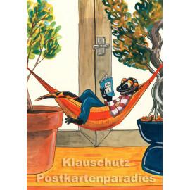 Postkarte aus dem 'Peter Hammer Verlag' von Leonard Erlbruch - Salamander