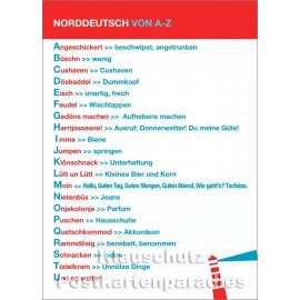 Norddeutsch von A-Z | Küsten Postkarte von Cityproducts