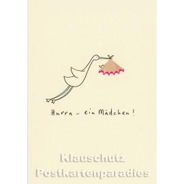 Buntstift Spitzer Doppelkarte von Discordia | Hurra - ein Mädchen