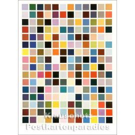 Kunstpostkarte von Gerhard Richter - 192 Farben (1966)