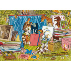 Findus liest - Pettersson und Findus Postkarten von Discordia