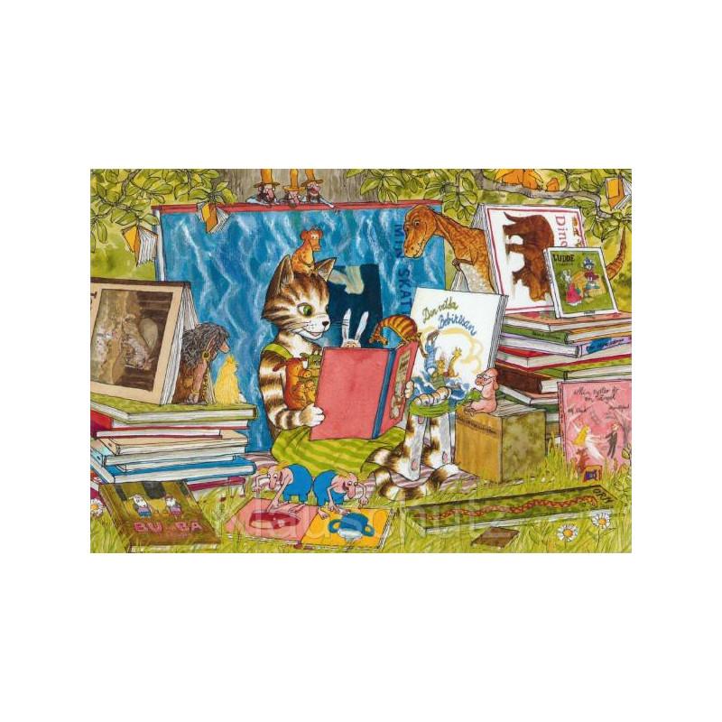 Findus liest - Pettersson und Findus Postkarten