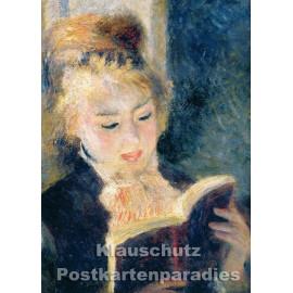 Kunstpostkarte von Taurus | Pierre Auguste Renoir | Lesendes Mädchen