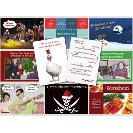 Freche Weihnachten- Postkarten Sparset mit 10 Weihnachtskarten
