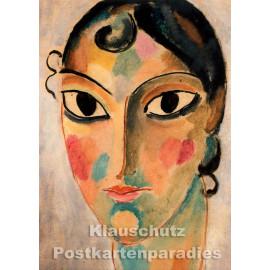 Mystical Head - Gemälde von Alexej von Jawlensky | Tushita Kunstpostkarte