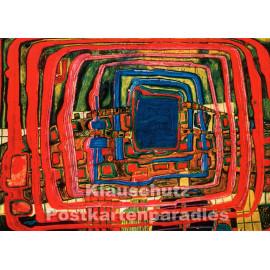 Kunstpostkarte | Friedereich Hundertwasser | Das ich weiß es noch nicht