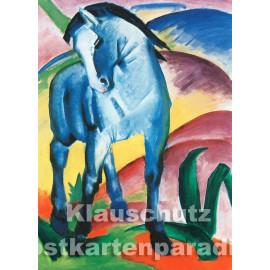Kunstpostkarte von Taurs | Franz Marc - Blaues Pferd I (1911)