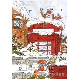 Tilda Weihnachtspost - Rannenberg Adventskalender Doppelkarte