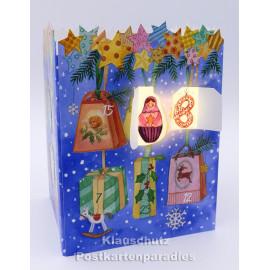 Hängende Geschenke  | Leuchtender Adventskalender