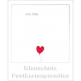 Cityproducts Happymemories Geburtstag Postkarte - Alles Liebe | Mit goldfarbener Lackierung