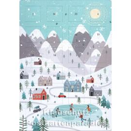Winterlandschaft - Up-Cards Aufstell Adventskalender von Taurus