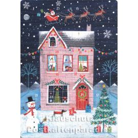 Weihnachtliches Haus - Up-Cards Aufstell Adventskalender von Taurus