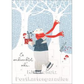 Doppelkarte Adventskalender  - Es weihnachtet sehr