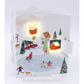 Leuchtender Adventskalender von Taurus - Winterlandschaft