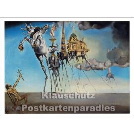 Kunstpostkarte von Vontobel | Salvador Dali | Die Versuchung des Heiligen Antonius