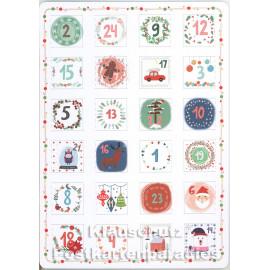 Weihnachtliche Motive - Up-Cards Aufstell Adventskalender von Taurus