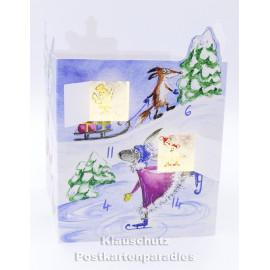 Leuchtender Adventskalender von Taurus - Tiere beim Wintersport