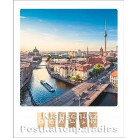 Cityproducts Happymemories Pola Postkarte - Berlin | Mit goldfarbener Lackierung