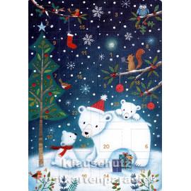Eisbären - Up-Cards Aufstell Adventskalender von Taurus
