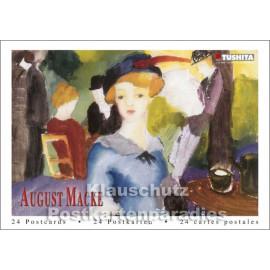 Tushita Postkartenbuch mit 24 Motiven - August Macke