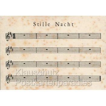 Stille Nacht Notenblatt - Weihnachtskarte Postkarte von Discordia