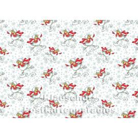 Grafik Weihnachtskarte | Schaf fährt Schlittschuh mit rotem Schal