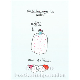 How to keep warm this winter | Postkarte von Discordia / karindrawings