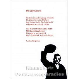 Ringelnatz Postkarte mit dem Gedicht Morgenwonne