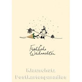 Buntstift Spitzer Doppelkarte Weihnachten von Discordia  - Fröhliche Weihnachten - Weihnachtsbaum