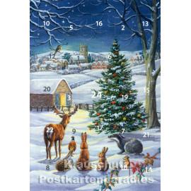 Festliche Nacht - Rannenberg Adventskalender Doppelkarte