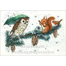 Kleine Weihnachtsmusik - Rannenberg Adventskalender Doppelkarte