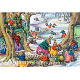 Spiel und Spaß im Winterwald - Rannenberg Adventskalender Doppelkarte