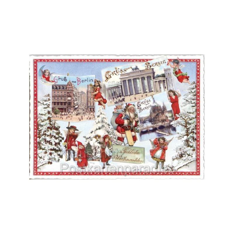 Weihnachtsgrüße Aus Berlin.Regionale Postkarten Weihnachten