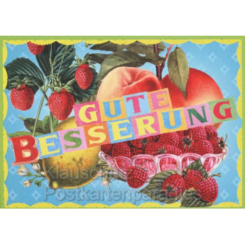 Schöne 'Gute Besserung' Postkarte von ACTEtre