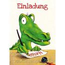 Postkarte und Einladungskarte von Thomas Röhner: Lustiges Krokodil