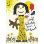 Viel Geburtstag zum Glückwunsch | Witzige Discordia Geburtstagskarte Postkarte mit Kinderzeichnung