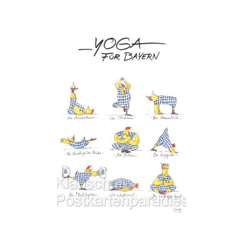 Postkarte Yoga für Bayern