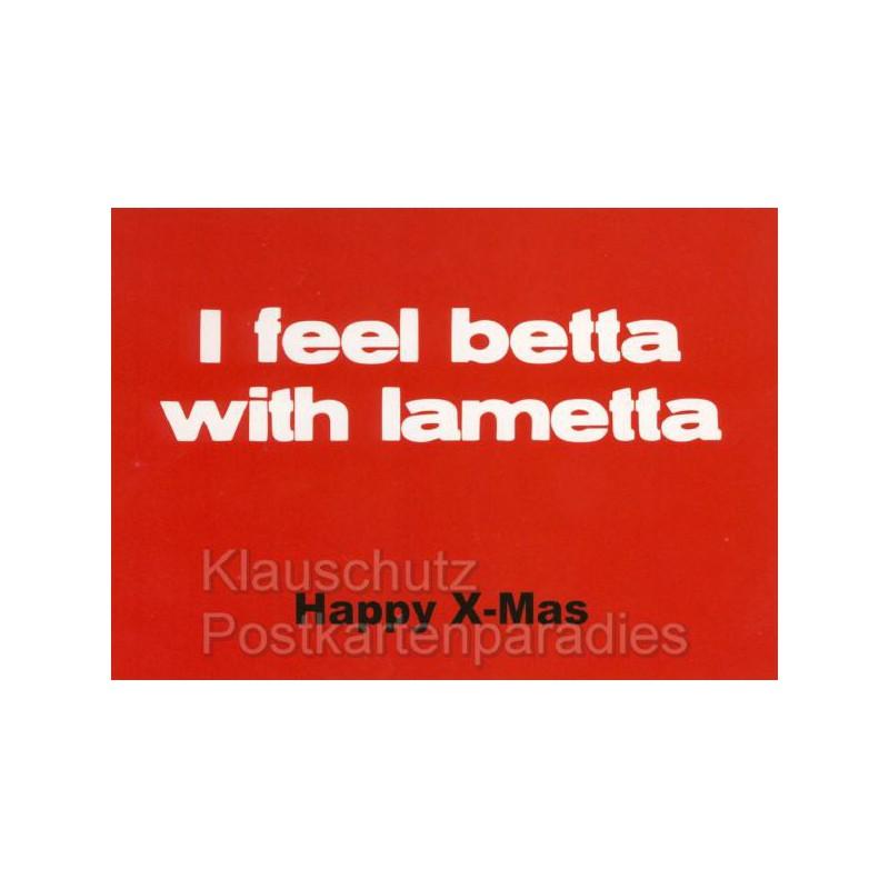 weihnachtskarte betta with lametta. Black Bedroom Furniture Sets. Home Design Ideas
