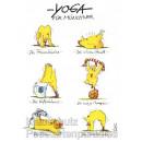 Peter Gaymann Hühner Postkarten | Yoga für Münchner