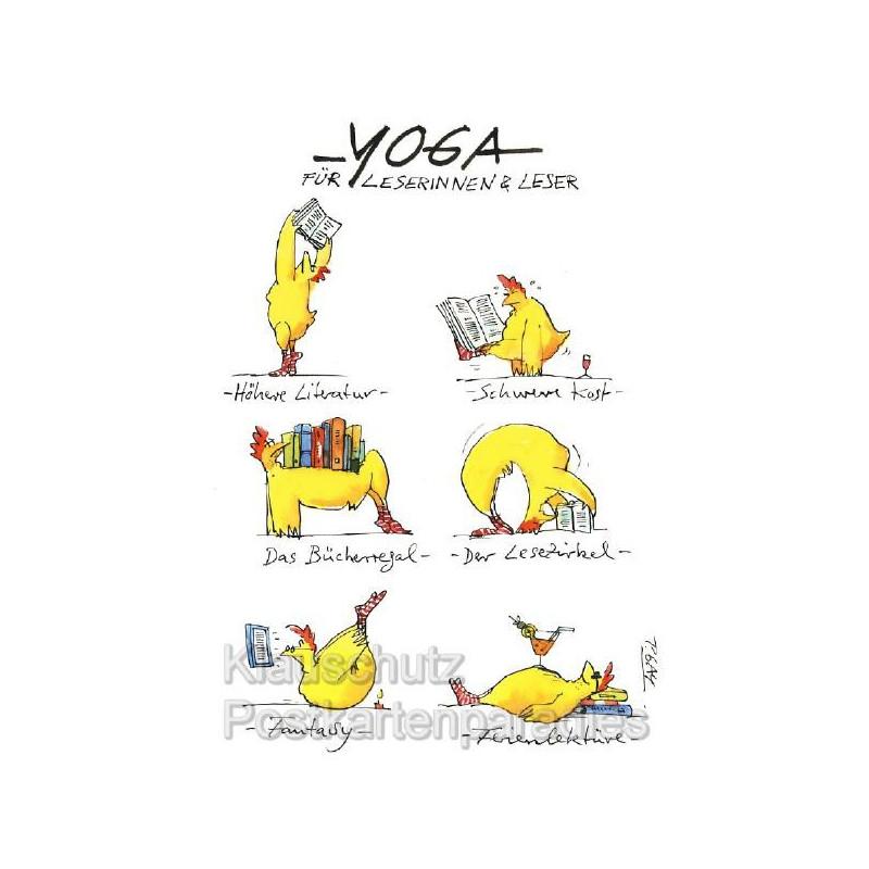 Yoga für Leserinnen & Leser - Postkarten von Peter Gaymann