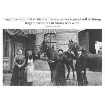 Die Träume seiner Jugend - Schiller Zitat Postkarte