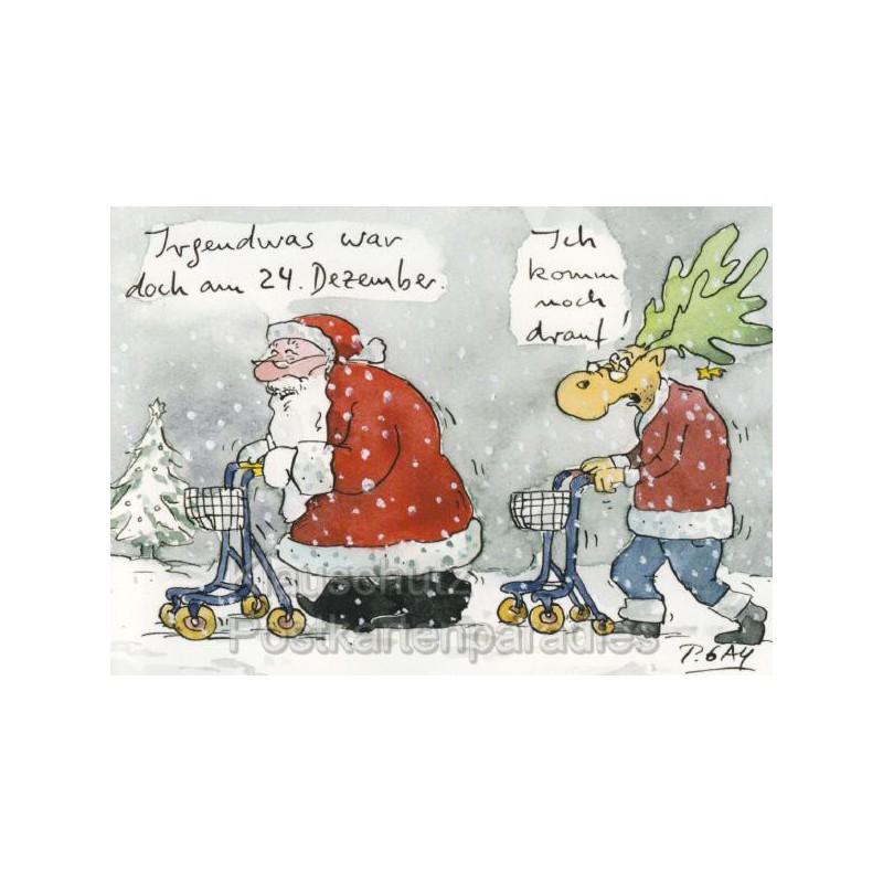 Weihnachtsmann rentner gaymann postkarte - Grafik weihnachten kostenlos ...