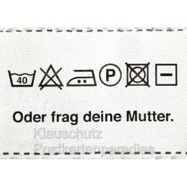 Sprüchekarte Postkarte aus dem Rabenmütter Verlag - Oder frag deine Mutter